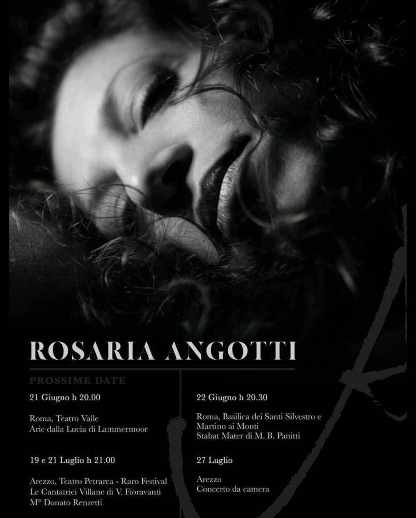 Rosaria Angotti, eventi futuri